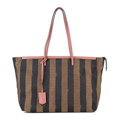 Fendi/芬迪 女士织物配皮条纹大号时尚手提包托特包单肩包图片