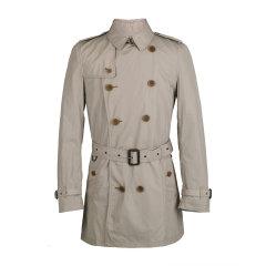 BURBERRY/博柏利 20春夏 男士 服装 BRIT系列 男士聚酯纤维混纺双排扣系带风衣 男士大衣图片