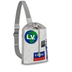 Louis Vuitton/路易威登  男士单肩包2019年新款老花CHALK 单肩包M44625图片