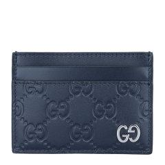 【包邮包税】GUCCI/古驰 20春夏  男士牛皮双G标识卡包卡夹图片