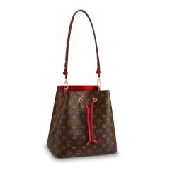 【包邮包税】Louis Vuitton/路易威登 19年 春夏爆款 女士老花水桶包 黑色/红色内里 斜挎包 M44020 M44021图片