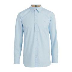 BURBERRY/博柏利 纯色棉质混纺男士长袖衬衫#8003073图片