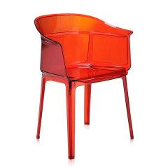 Kartell卡迪尔椅子透明塑料椅餐厅椅扶手椅PAPYRUS(两把装)图片