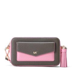 Michael Kors/迈克·科尔斯 20春夏  女士牛皮拼织物小号相机包单肩包斜挎包图片