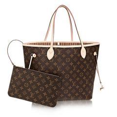 【包邮包税】Louis Vuitton/路易威登 NEVERFULL 中号 PVC/配皮 女士手提单肩两用包 M40995/M41177/M41178图片