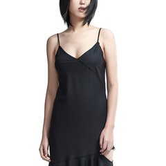 PORTSPURE/PORTSPURE2018秋季新款纯棉面料不规则英伦格纹吊带裙女士连衣裙RA9D002GFC003图片