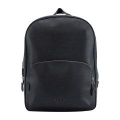 COACH/蔻驰男士黑色皮质双肩背包图片