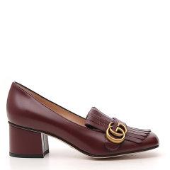 古驰/GUCCI 19年春夏 女性 复古 双Glogo 中跟鞋 408208C9D00 1000图片