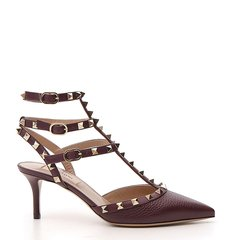 华伦天奴/Valentino 19年秋冬 女性 尖头鞋铆钉 中跟凉鞋 QW1S0375VB8 P45图片