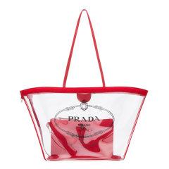 普拉达/PRADA 19年秋冬 透明 logo 女包  女性 托特包 手提包 1BG166VM002BY5 F0002图片