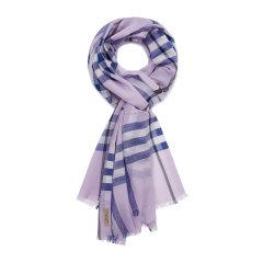 【精选】 19年春夏 BURBERRY 紫色 女士 围巾 8004521