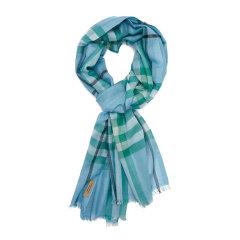 【精选】 19年春夏 BURBERRY 蓝色 女士 围巾 8004525