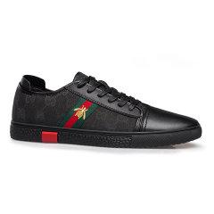 LANMARH男鞋 2019 新品 小白鞋 男 板鞋 夏季 运动 休闲鞋 刺绣 鞋子 男 潮鞋 帆布鞋SBLT8801图片