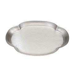 Zhuyintang/竹银堂 海棠型 纯银 壶承 茶具图片