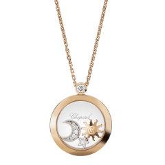 Chopard/萧邦 女士经典款开心系列18K金和太阳月亮星星挂坠项链 (2色可选)799434-5201图片