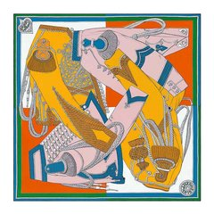 HERMES/爱马仕 女士Carré 90 Zouaves et Dragons 90*90厘米方巾 H003280S-BA9906图片