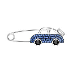 HEFANGJewelry/何方珠宝 美食旅行系列 美食之旅胸针 925纯银女别针扣针胸花胸章图片