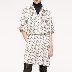 MO&Co./摩安珂女士连衣裙2019秋季新品收腰字母印花连衣裙MAI3DRS040图片