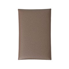 HERMES/爱马仕  Small Leather Goods 小牛皮卡片夹 Calvi(大象灰,棕色)图片