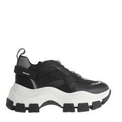 PRADA/普拉达 19年秋冬 跑步鞋 女性 老爹鞋 系带  黑/白 女士休闲运动鞋 1E586L.3KY9_967 NERO+BIANCO图片