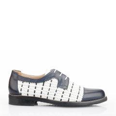 Quarvif/Quarvif 19春夏新款女式手工牛津鞋/皮鞋【小牛皮 橡胶底】QWG71542图片