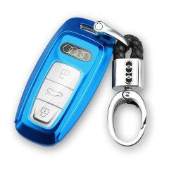 pinganzhe 2019年新款奥迪A6L /A7/A8L 专用软胶全包钥匙包 钥匙壳 钥匙套 送钥匙扣两个图片