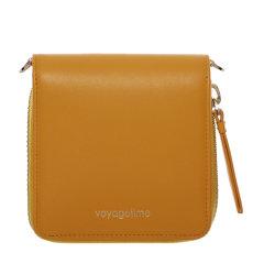 voyagetime/微缇 头层牛皮 女士短款拉链简约方形 链条钱包单肩包VA2004图片
