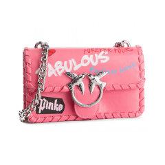Pinko/品高  19秋冬新款纯色链条手拿包燕子包女单肩包  1P21B5Y5EU图片