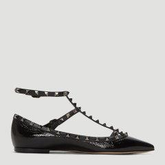 华伦天奴/Valentino 19年秋冬 Rockstud系列 单鞋 女性 尖头 铆钉 平跟鞋 QW2S0376 HTX 0NO图片
