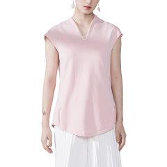 SHENGJIANG/生姜女改良中式服针织短袖上衣女t恤打底针织背心图片