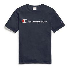 Champion冠军 男女同款 情侣款 新款圆领刺绣logo休闲短袖 男士运动 T恤图片