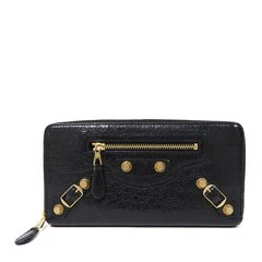 Balenciaga/巴黎世家 20春夏 女士羊皮金属配饰拉链长款钱包钱夹手拿包图片