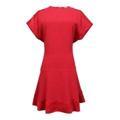 Red Valentino/Red Valentino  黑色红色叉肩女士连衣裙 QR3VA76 03FP图片