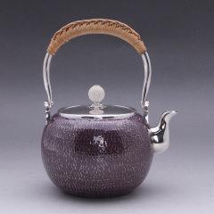 YRT 银荣堂 森川荣月手作 日本银壶 宝珠3.7寸 容量约500ml图片