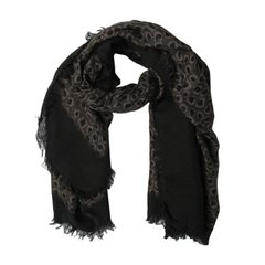 Gucci/古驰 女士羊绒混合毛边印花围巾