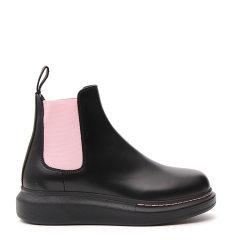 Alexander McQueen/亚历山大麦昆 19年秋冬 时尚 女性 白/黑 短靴 586398 WHX52 9061图片