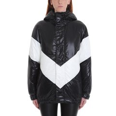 Givenchy/纪梵希 19年秋冬 服装 羽绒服 女性 LOGO 连帽 黑/白 女士棉服 BW005N1 01L 004图片