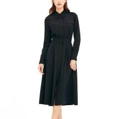 宋慧乔新剧《男朋友》同款AVOUAVOU RED SILK SHIRTS FLARE系列女士连衣裙图片