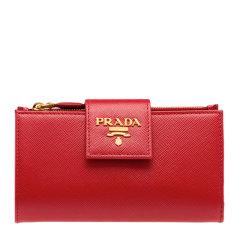 PRADA/普拉达 19秋冬新款 女士时尚多色皮革手拿包钱包钱夹卡包卡夹零钱包女包 多色可选 1ML005-QWA图片