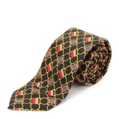 BURBERRY/博柏利桑蚕丝黄色印花男士领带