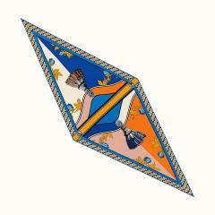Hermes 19春夏女士Losange Harness French Remix,中型 丝巾H472982S 01 1周左右发货图片