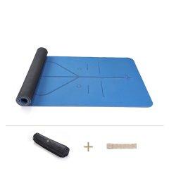 哈达TPE橡胶三层瑜伽垫男女加厚加宽加长防滑运动垫瑜珈健身垫子图片