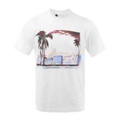 PRADA/普拉达男士短袖T恤白色纯棉圆领男士短袖T恤图片