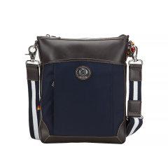 GLUX/古莱仕 日本男休闲尼龙单肩包时尚斜挎包商务真皮公文包竖款 尼龙配皮 男士图片