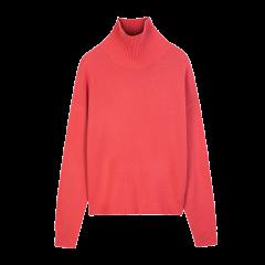 ERDOS/鄂尔多斯 19早秋新品 半高领长袖纯羊绒针织套衫女士针织衫/毛衣图片