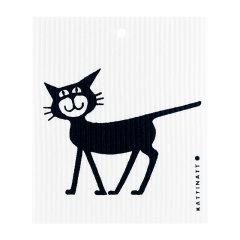 KATTINATT/KATTINATT瑞典 夜喵布 漫步猫系列 速干除螨抑菌无菌强力搓泥成人宝宝洗浴卸妆棉 卸妆棉中的爱马仕漫步猫图片