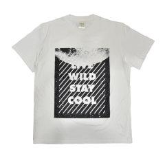Fool's Day 男装 Live Wild Stay Cool 标语 短袖T恤图片