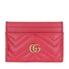 古驰/GUCCI 19年春夏 logo 条纹 女包  女性 gucci  GG Marmont系列 小方包 卡片夹 443127DTD1T 1000图片