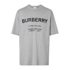 BURBERRY/博柏利【20春夏】男装 服饰  时尚休闲 圆领logo印花棉质半袖 男士短袖T恤 8017225图片
