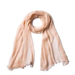 YAWANG CHEN/YAWANG CHEN19七夕礼物限定新品礼盒装粉色 酒红色桑蚕丝优雅长条丝巾图片